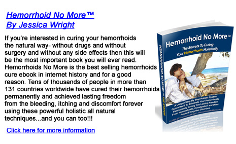 Hemorrhoid No More by Jessica Wright